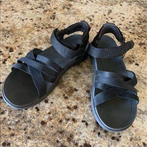 Teva Black Sanborn Women's Sandals 8